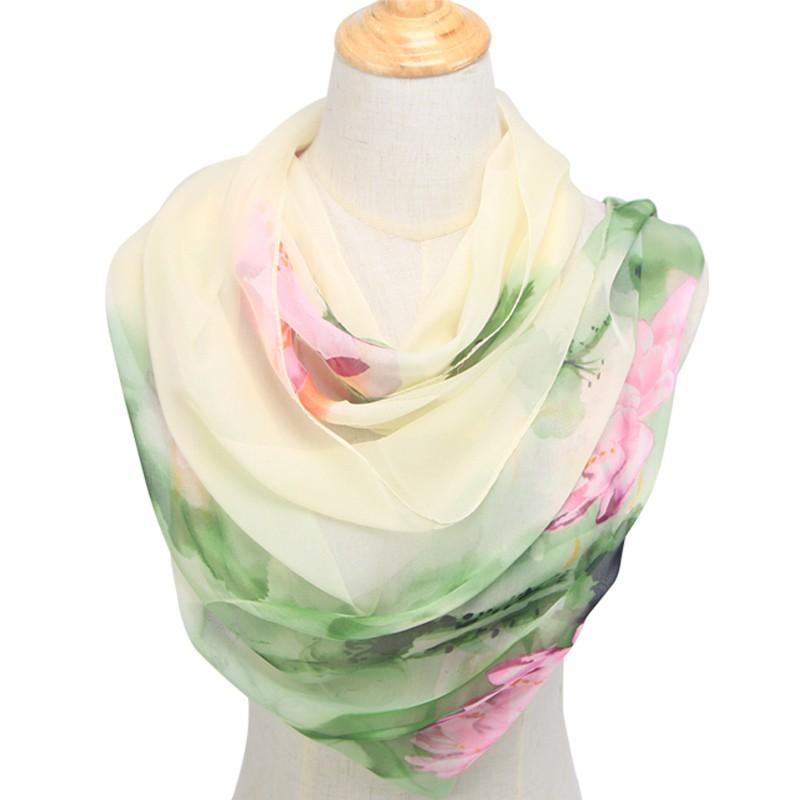 aed3380c33 Lilla georgette zöld virág mintás női kendő – Női divat webáruház!